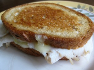 Pear, Turkey and Cheese Sandwich