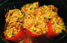 Sweet Peppers Stuffed with Scalloped Corn