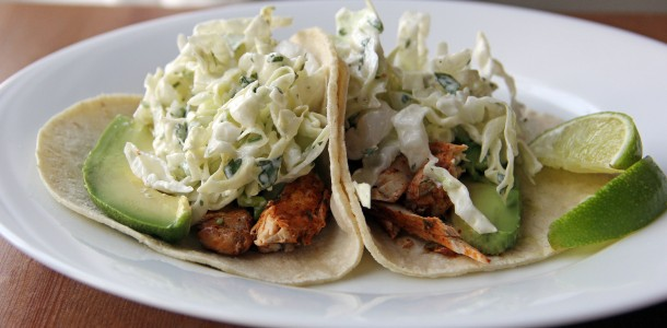 Swordfish Tacos with Lime and Cilantro