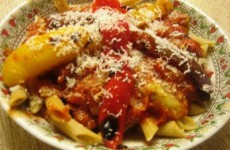 pasta with marinara sauce grilled vegetables