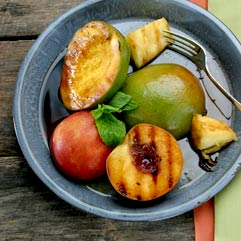 Grilled Fruit with Balsamic Vinegar Syrup