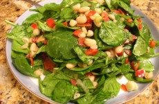 Spinach and Bean Salad